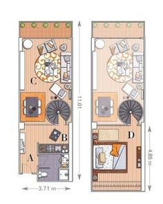 Un loft de 58 m² dividido en dos alturas