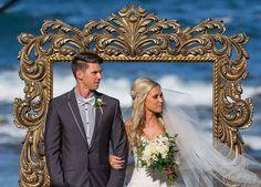 Our beautiful ornate frame backdrop. www.dreamweddingceremonies.com.au