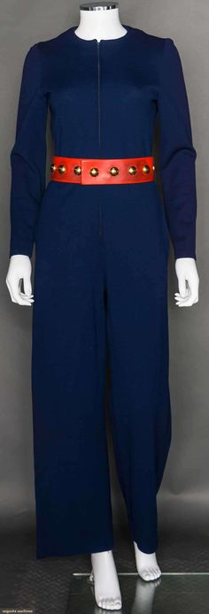 Donald Brooke Blue Jumpsuit, 1970s