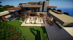 Keralis Mansion 3 Minecraft ModernMinecraft KeralisMinecraft Buildings CreationsModern HousesMansionModern