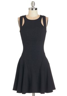 Infinite Potential Dress. Theres no limit to how you can accessorize this black dress! #gold #prom #modcloth