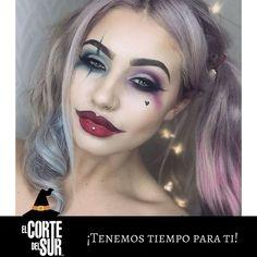 #Halloween  ¡En esta fecha de color y diversión rompe la monotonía con los mejores #Looks creados por nuestros excelentes profesionales!  Compartimos un hermoso #Maquillaje de #Caracterización de la favorita de la temporada #HarleyQuinn