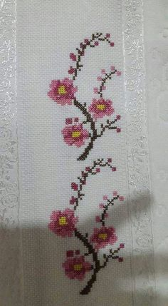 The most beautiful cross-stitch pattern - Knitting, Crochet Love Cross Stitch Letters, Cross Stitch Bookmarks, Cross Stitch Borders, Cross Stitch Samplers, Cross Stitch Flowers, Modern Cross Stitch, Cross Stitch Designs, Cross Stitching, Cross Stitch Embroidery