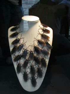 Costume roach necklace. This is making my skin crawl just looking at it!