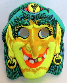 Vintage Gypsy Witch Halloween Mask