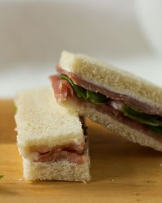 tea sandwich goat cheese prosciutto basil more cheese prosciutto ...