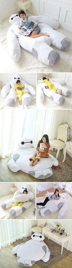 This Life Size Baymax Sofa Bed Is What I Need To Hug While I Sleep!