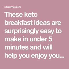 These keto breakfast ideas are surprisingly easy to make in under 5 minutes and will help you enjoy your keto journey even more. They taste great and will definitely fill you up well into the afternoon. Quick Keto Breakfast, Keto Breakfast Smoothie, Breakfast Ideas, Breakfast Recipes, Ketogenic Diet Meal Plan, Keto Meal Plan, Low Carb Keto, Low Carb Recipes, Keto Cereal