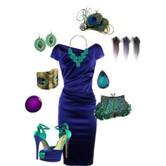 Peacock, created by stacy1027 on Polyvore