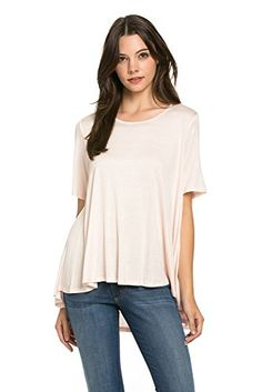 My Space Clothing Scooped neck High-Low Knit Jersey Top (Small, Blush) My Space Clothing http://www.amazon.com/dp/B01BE55QJY/ref=cm_sw_r_pi_dp_l-JSwb01QE3NE