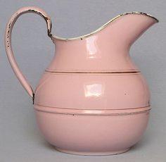 #pink #enamelware #jug