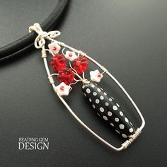 How to Make a Wire Vase of Flowers Pendant Tutorial ~ The Beading Gem's Journal: