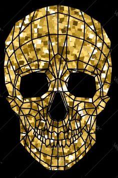 Esqueleto dorado
