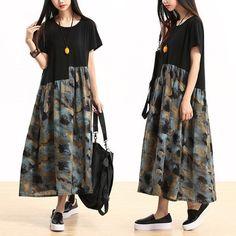 Women summer Cotton linen dress