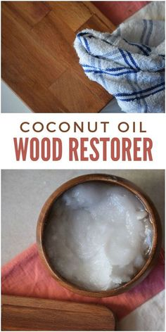 Is your wooden furniture (or your wooden cutting board) looking a little lackluster lately? Fear not… coconut oil comes to the rescue! This coconut oil wood restorer makes wood shiny and clean to keep it looking like new for years to come. Visit Us Deep Cleaning Tips, House Cleaning Tips, Natural Cleaning Products, Spring Cleaning, Cleaning Hacks, Natural Cleaning Solutions, Diy Hacks, Homemade Toilet Cleaner, Cleaners Homemade