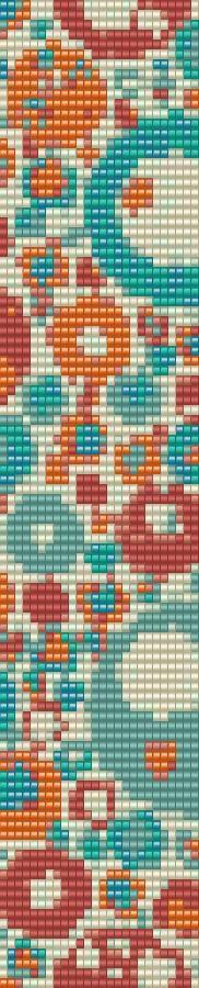 Dotty Loom Bracelet Beading Pattern by GoldenValleyCraft on Etsy