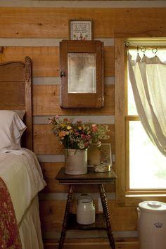 Simple farmhouse style bedroom