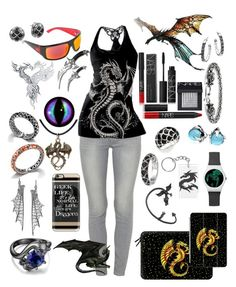 """""""Dŕäğõňś"""" by lennyroo ❤ liked on Polyvore featuring Paige Denim, Casetify, NARS Cosmetics, John Hardy, Bling Jewelry and Dragon"""