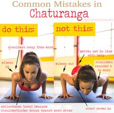 Pin it! Common mistakes in chaturanga and how to fix them.