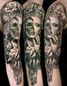 day of the dead tattoos sleeve - Google Search
