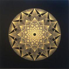 String Art Templates, String Art Tutorials, String Art Patterns, Geometry Art, Sacred Geometry, String Art Diy, Pin Art, Affordable Art, Abstract Wall Art