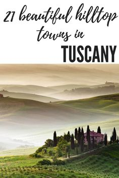 Tuscany is a beautiful region of Italy that needs to be on your bucket list. The hilltop towns such as San Gimigiano and even cities like Siena are a must visit.