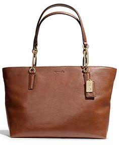 COACH MADISON EAST/WEST TOTE IN LEATHER - All Handbags - Handbags & Accessories - Macy's