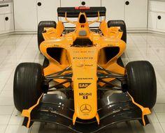 McLaren- Mercedes in traditional McLaren Orange