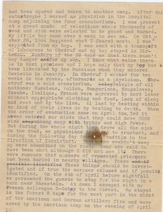 This is the third page of a testimony Dr. Kurt Grunwald delivered to Pvt. Albert Levinson in Ohrdruf concentration camp in April 1945. (Www.misasfugue.com)