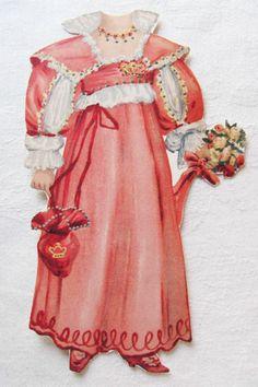 Vintage Victorian Paper Doll Set Sweet Abigail