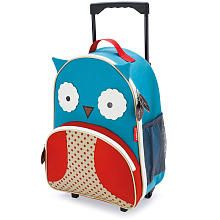 Skip Hop Zoo Little Kid Rolling Luggage - Owl