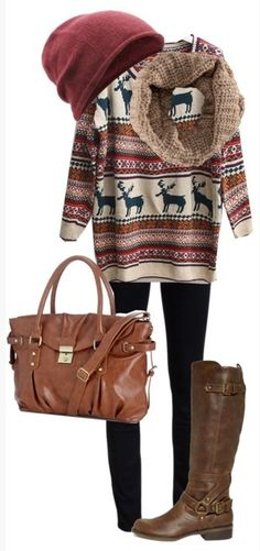 Cozy winter time outfit. maybe one of my favorite outfits