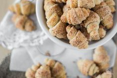 Mini nutmunks - The kitchen whisper - Mini nutmunks – my favorite croissants ever … - Baker Recipes, Dog Food Recipes, Cookie Recipes, Breakfast Cookie Recipe, Breakfast Recipes, Croissants, Fall Dishes, Vegan Peanut Butter, Dog Cakes