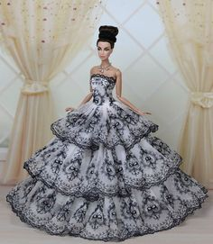 Fashion Royalty Princess Party Dress/Clothes/Gown For Barbie Doll