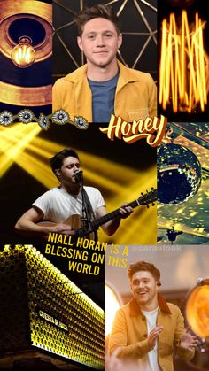 Niall Horan yellow aesthetic wallpaper by on DeviantArt Wallpaper One Direction, One Direction Collage, Ex One Direction, One Direction Videos, One Direction Pictures, Niall Horan, Zayn Malik, Aesthetic Images, Blue Aesthetic