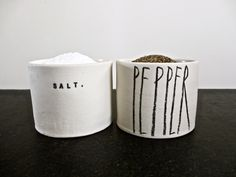 SALT and PEPPER cellars (mix and match