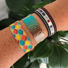 Brick Stitch, Loom Beading, Instagram, Handmade, Jewelry, Art, Fashion, Bangles, Peyote Stitch