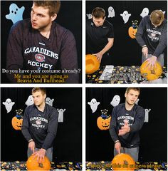 Alex Galchenyuk carving pumpkins // Aah I love this video. Funny Hockey, Hockey Memes, Carving Pumpkins, Pumpkin Carving, Montreal Canadiens, Hockey Pictures, Hockey Boards, Rugby Sport, Rangers Hockey