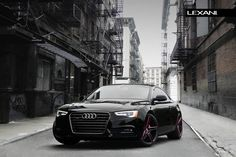 2013 Audi on all black R-Three With Red Accents. by Lexani Wheels. Click to view more photos and mod info.