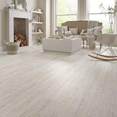KP105 White Painted Oak Living Room Flooring - Knight Tile