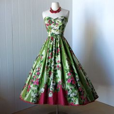 Vintage 1950s Garden Party Dress
