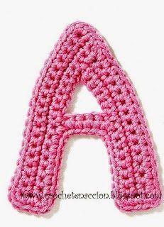 ALFABETOS LINDOS: Alfabeto em crochê com gráfico - letras em crochê ...
