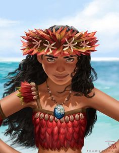 Moana, Priscilla Bonilla on ArtStation at https://www.artstation.com/artwork/vBY0a