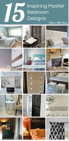 Inspiring ideas for designing your master bedroom