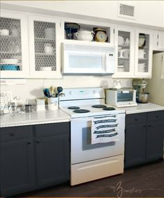 navy cabinets yellow walls - Google Search