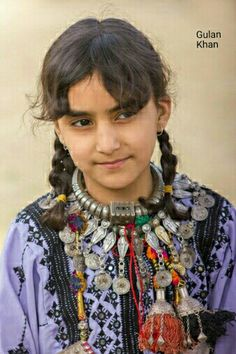 Awesome cute Balochi baby traditional dress & jewellery , Balochistan Pakistan