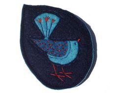 Bertie the birdie brooch