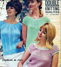 Knitting Pattern  Vintage designs  ladies by carolrosa on Etsy
