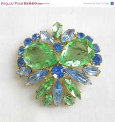 ON SALE Vintage JULIANA Style Shades of Blue by MyVintageJewels, $23.40