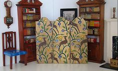 At $160. With three days left  Vintage Tynietoy Doll House Miniature Folding Screen 1920s/1930s